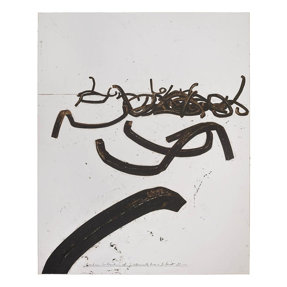 hatchikian-gallery-bernar-venet-combinaison-aleatoire-de-lignes-indeterminees-1992