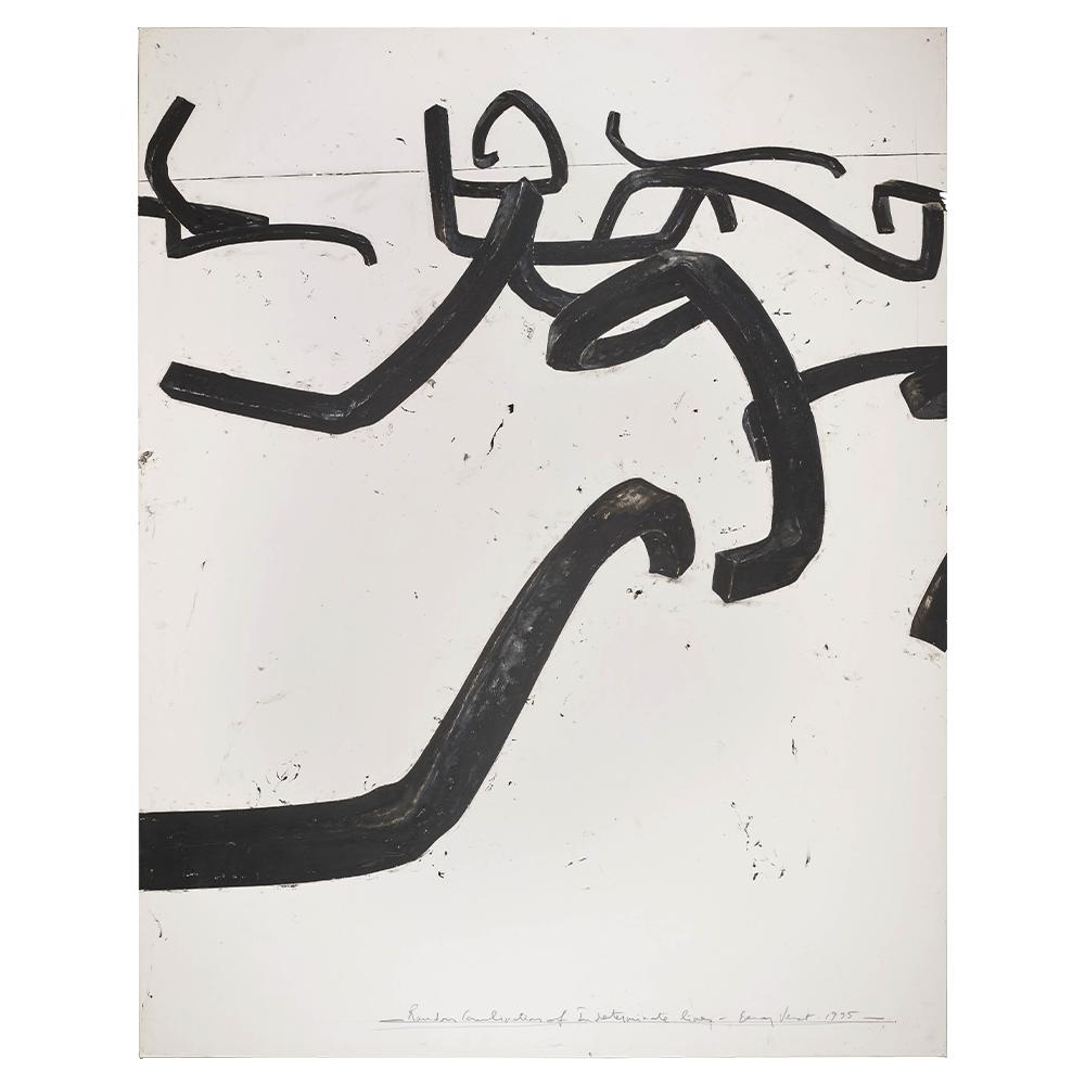 hatchikian-gallery-bernar-venet-combinaison-aleatoire-de-lignes-indeterminees-1995