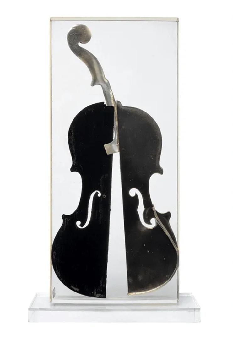 Inclusion de violon - Arman