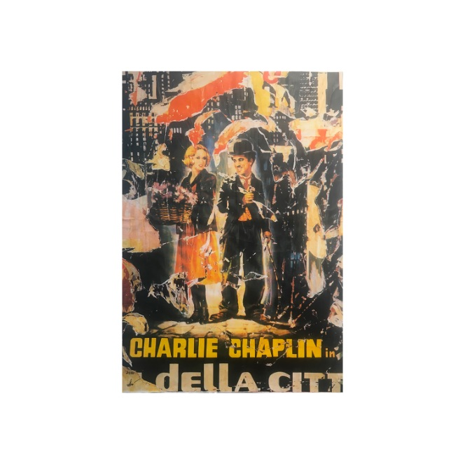 Charlie Chaplin - Mimmo Rotella
